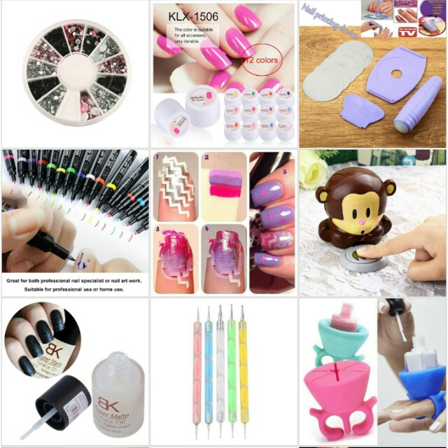 NAIL ART DESIGN TOOLS (polish, dotting, dryer, sticker, stamp ...