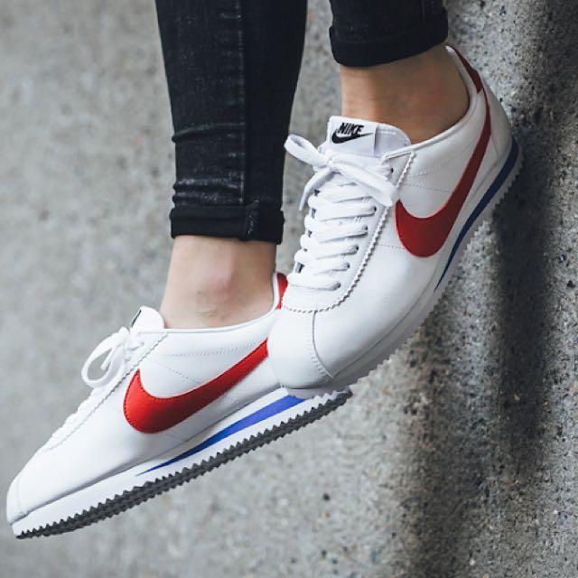 日本代購-Nike白底紅勾阿甘鞋(預購)