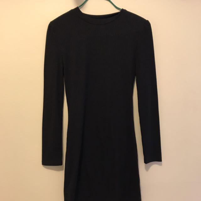 Pare basics black dress