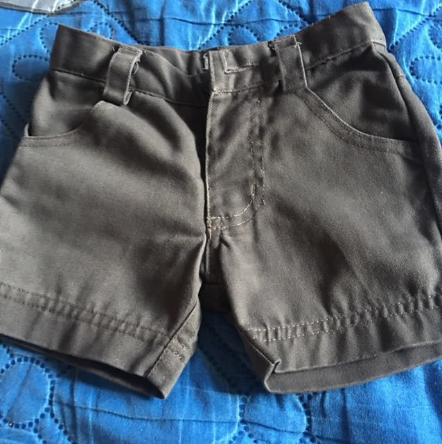 Periwinkle Soft Denim Ash Gray Shorts