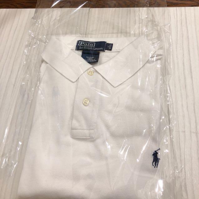POLO白色長袖上衣