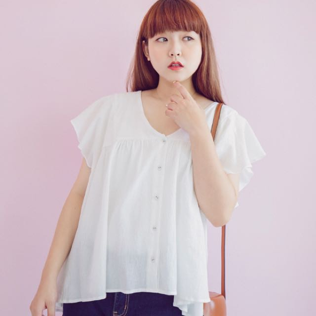 網拍大尺碼韓系服飾polylulu 全新襯衫 L尺寸