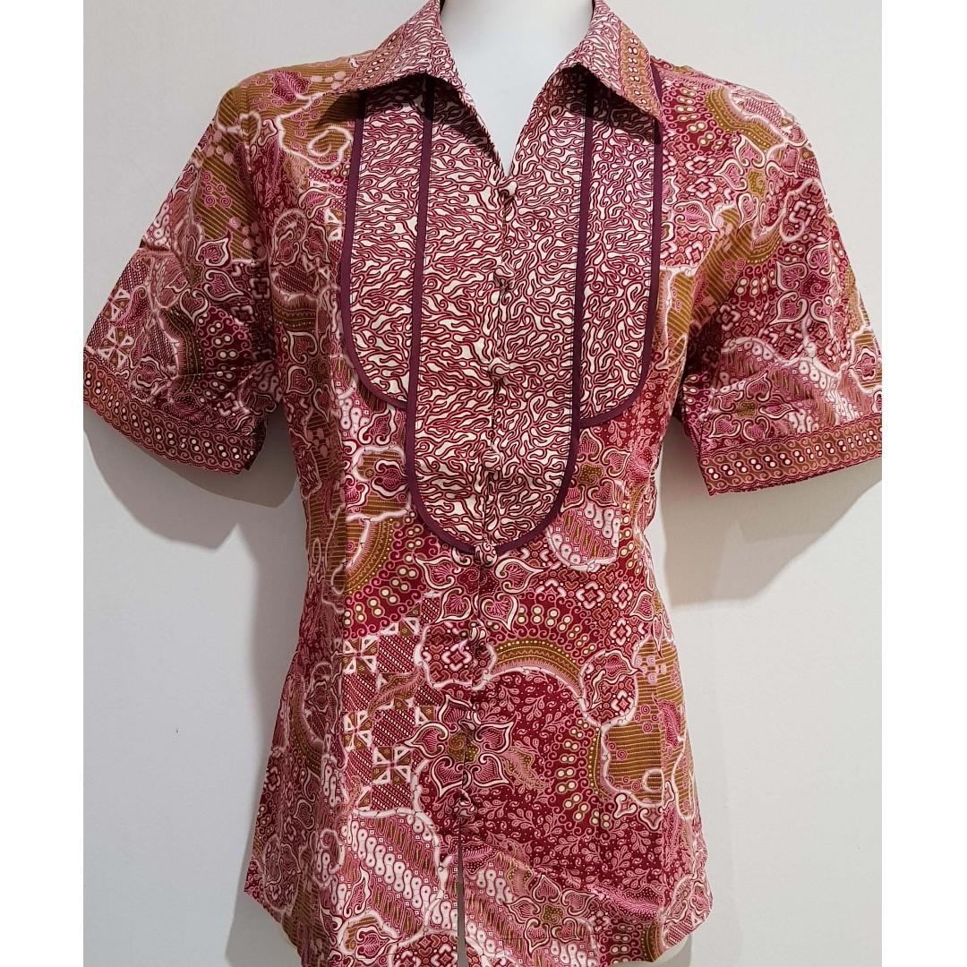 Preloved/Second Kemeja batik merk batik keris