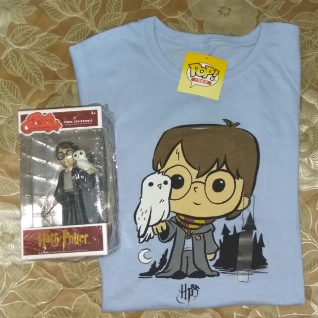 [PRE-ORDER] Harry Potter & Hedwig Rock Candy and T-shirt Funko Bundle
