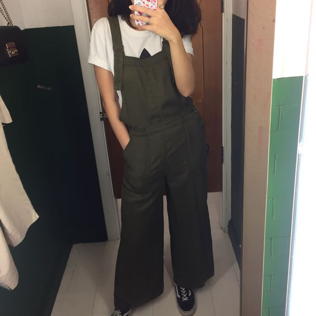 Pull&Bear Army Overall