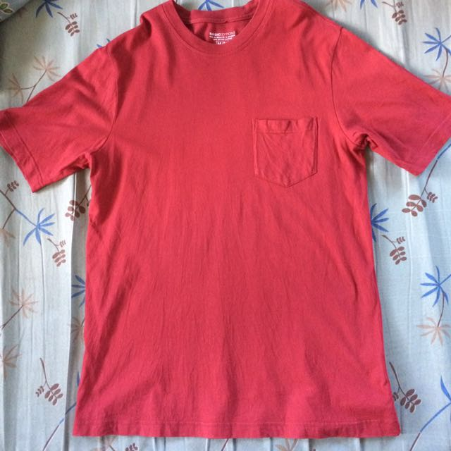 Red Basic Shirt with Pocket