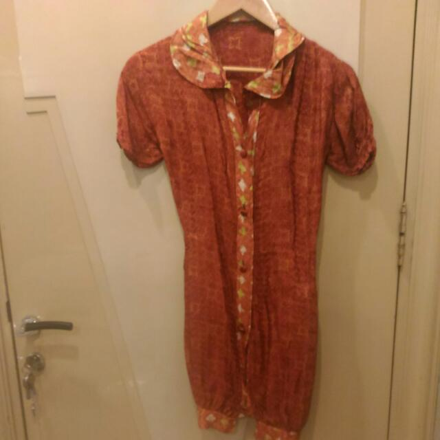 Retro Batik Dress / Tunic