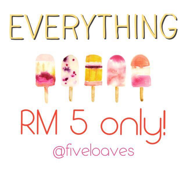 RM 5 Clearance!!