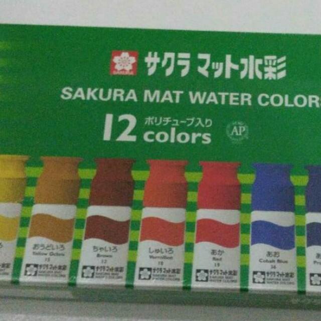 Sakura mat water colors