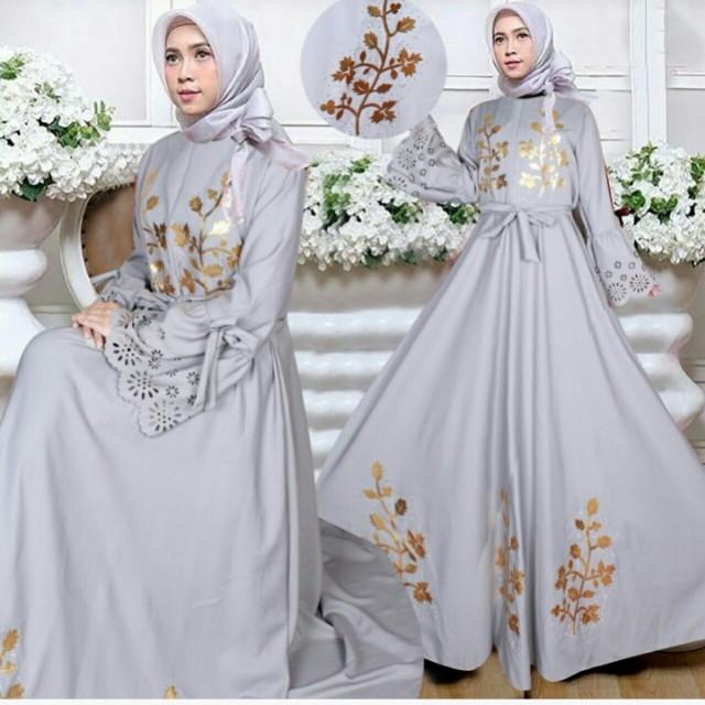 SALE!!!! Za 148dk holla maxy gamis elegan wanita