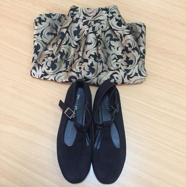Set shoes + skirt