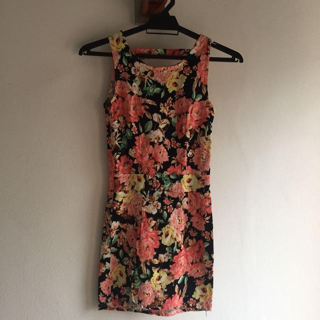 Sexy back mini dress