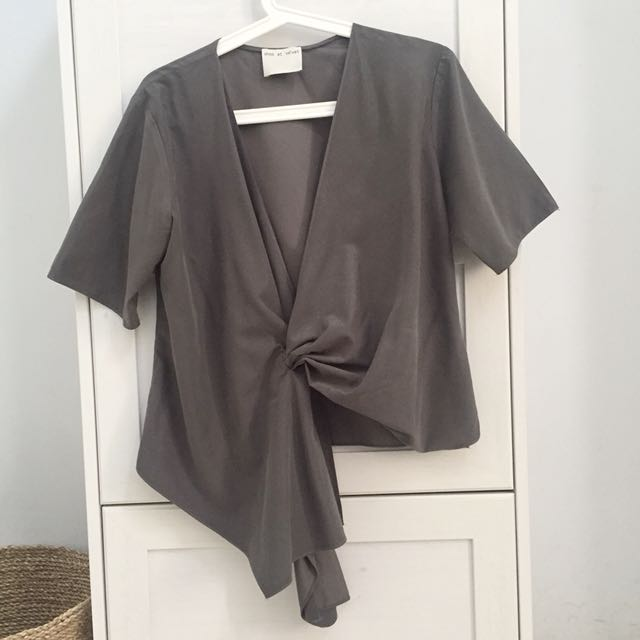 Shopatvelvet Facade Grey Top