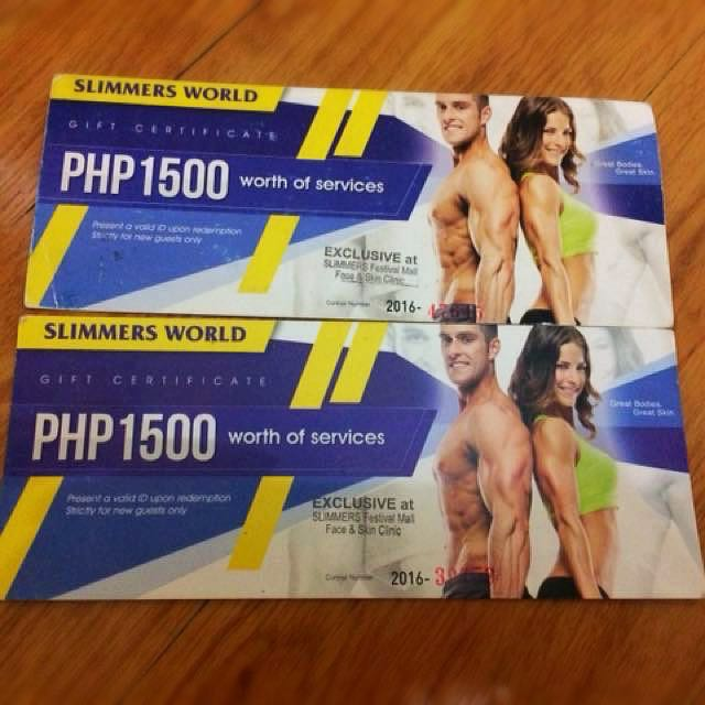 Slimmers World Gift Certificate