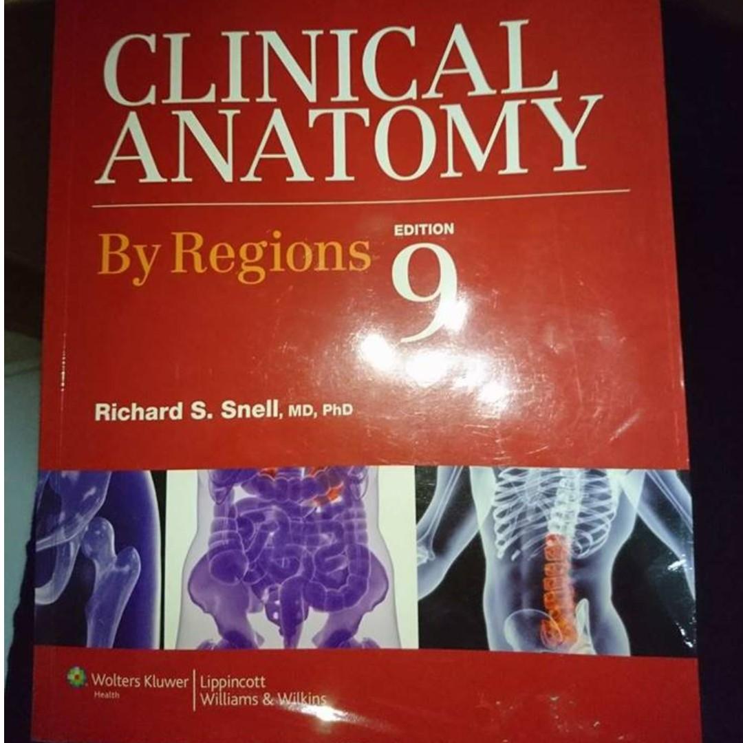 Snell Clinical Anatomy by Regions 9th Edition, Textbooks on Carousell