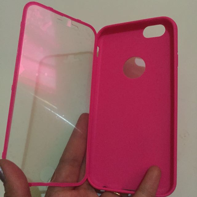 softcase with screen protector iphone 6/6s