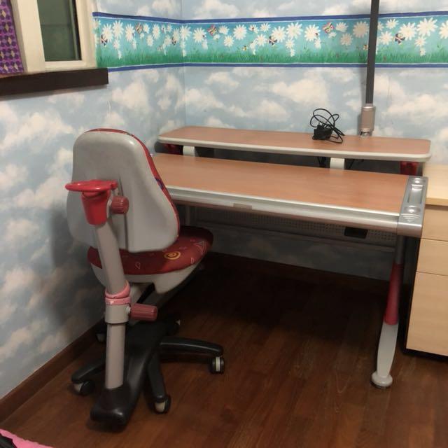 spi ergonomic children s study desk table chair furniture