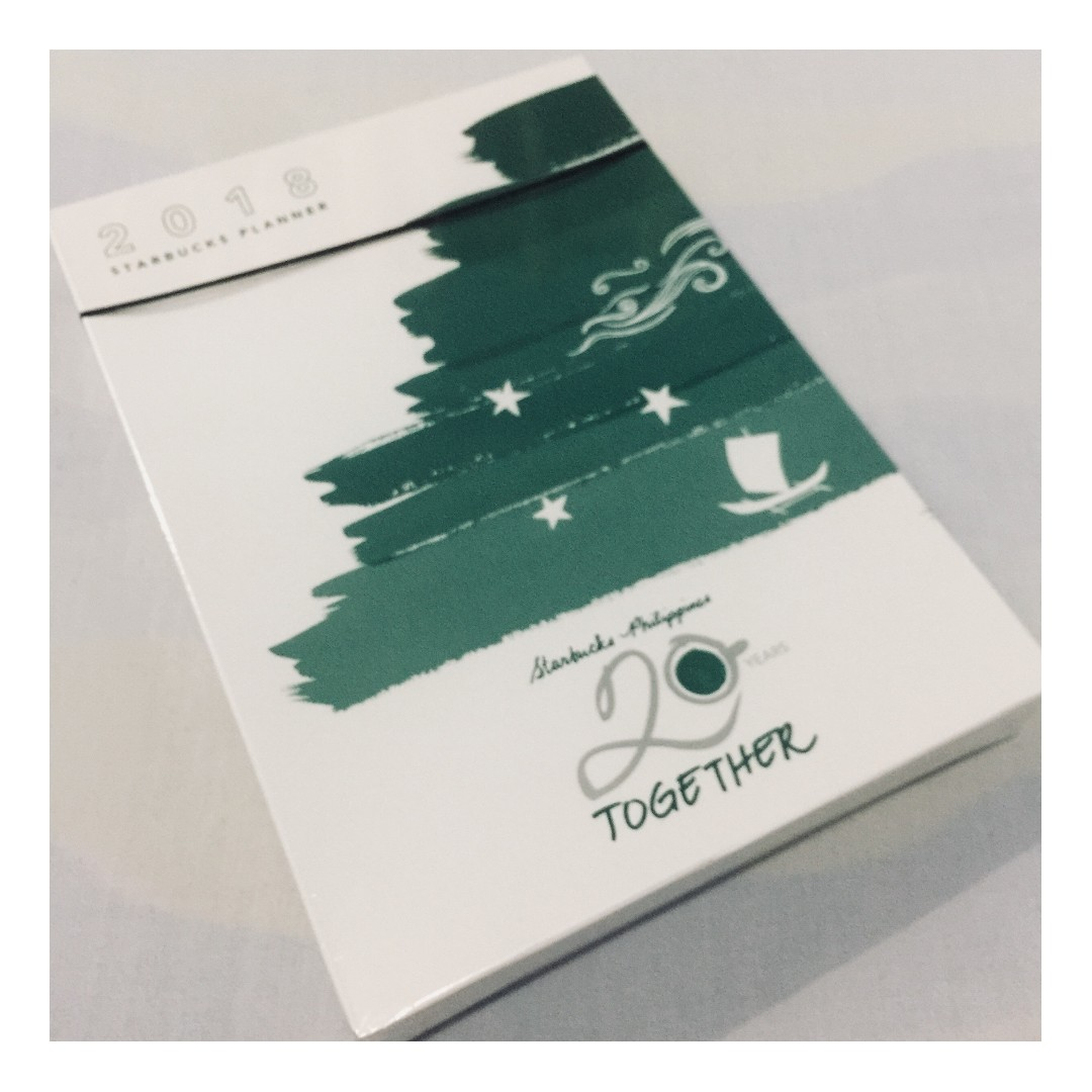 Starbucks 2018 Planner (blue/purple) UNOPENED, Looking For on Carousell