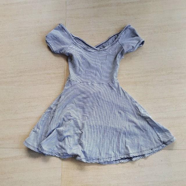 Striped Skater Dress Brandy Melville