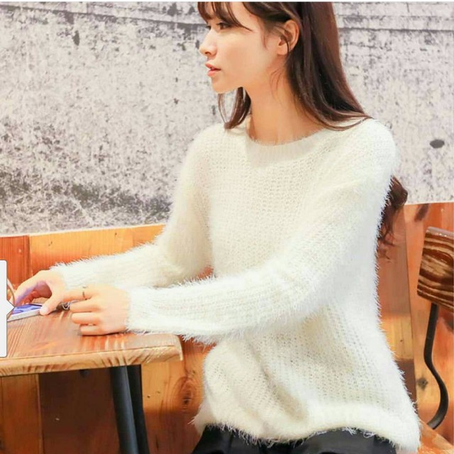SWEATER FUR WHITE
