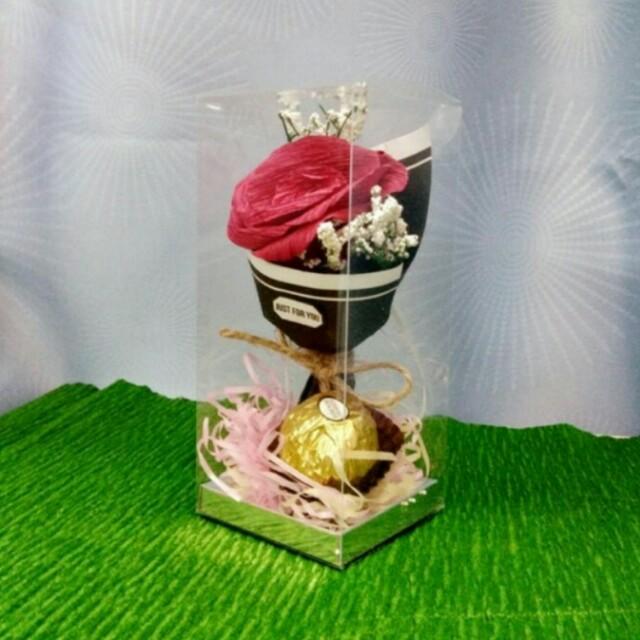Tempahan Doorgift Mini Bouquet Flowers, Design & Craft, Handmade ...
