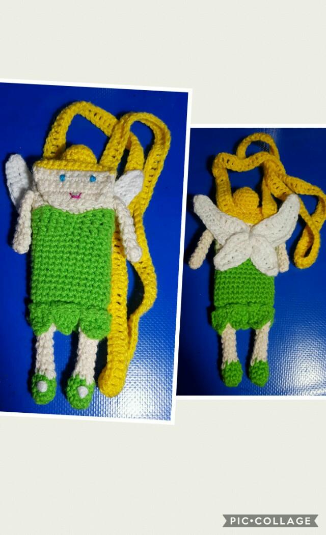 Tinkerbell Crochet Sling Phone Pouch