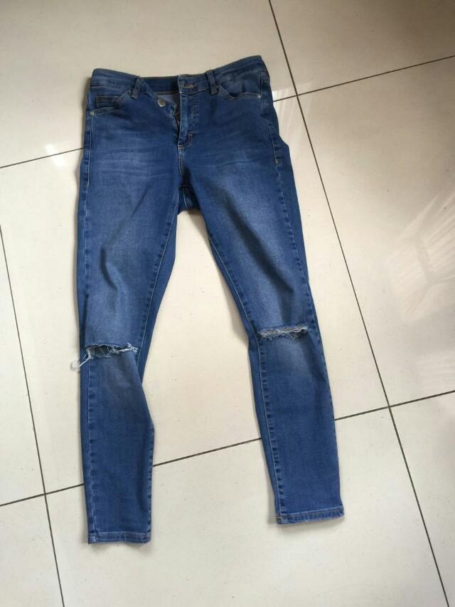 Top shop moto jeans size s