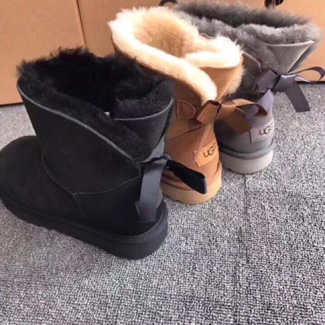 日本代購-UGG後綁帶羊毛中筒靴(三色預購)