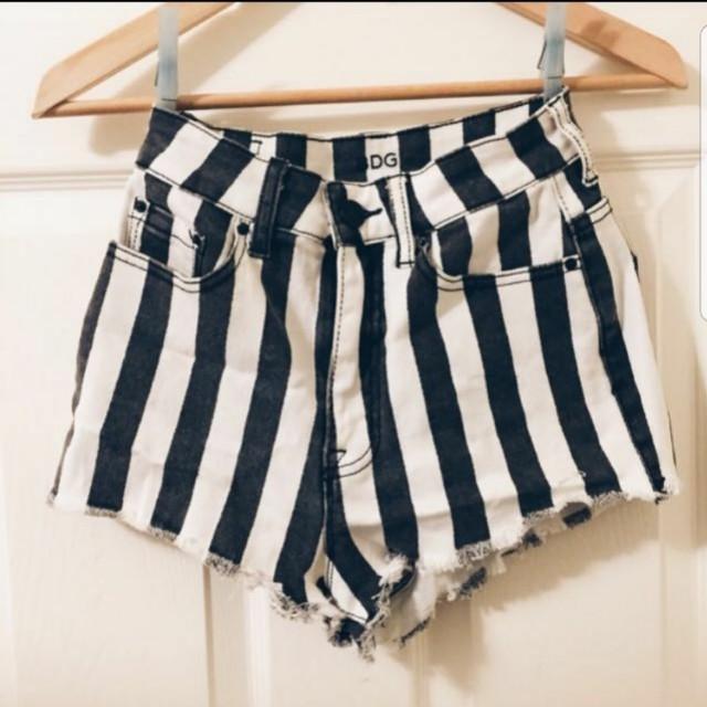 Urban outfitters high waist stripe shorts (sz 25)