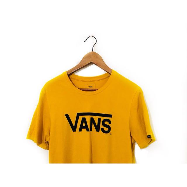 Vans 芥末黃 短T