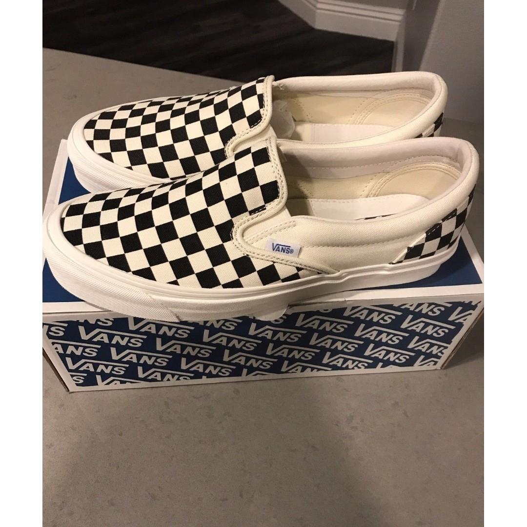 Vans Slip On Checkerboard OG Vault Classic LX FOG