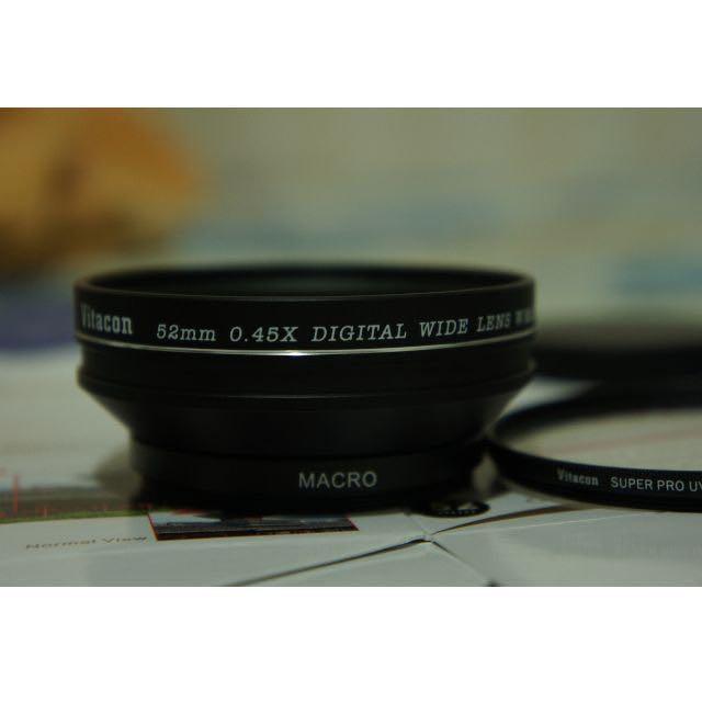 Vitacon 0.45x 廣角鏡 具Micro 送保護鏡 可轉接Sony Nex