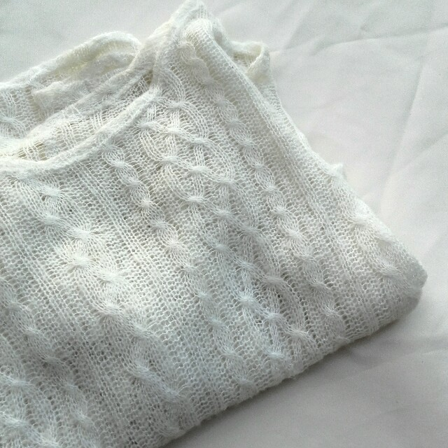 White Cotton Pullover