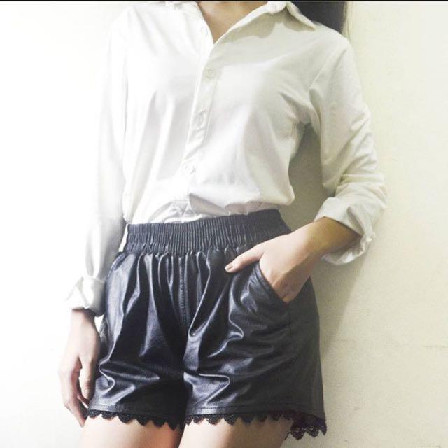 White Longsleeves Bodysuit