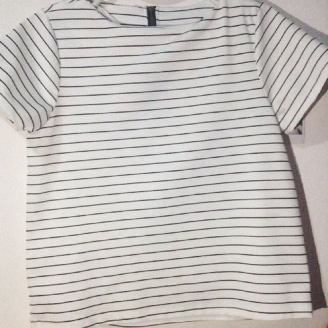 white stripes top