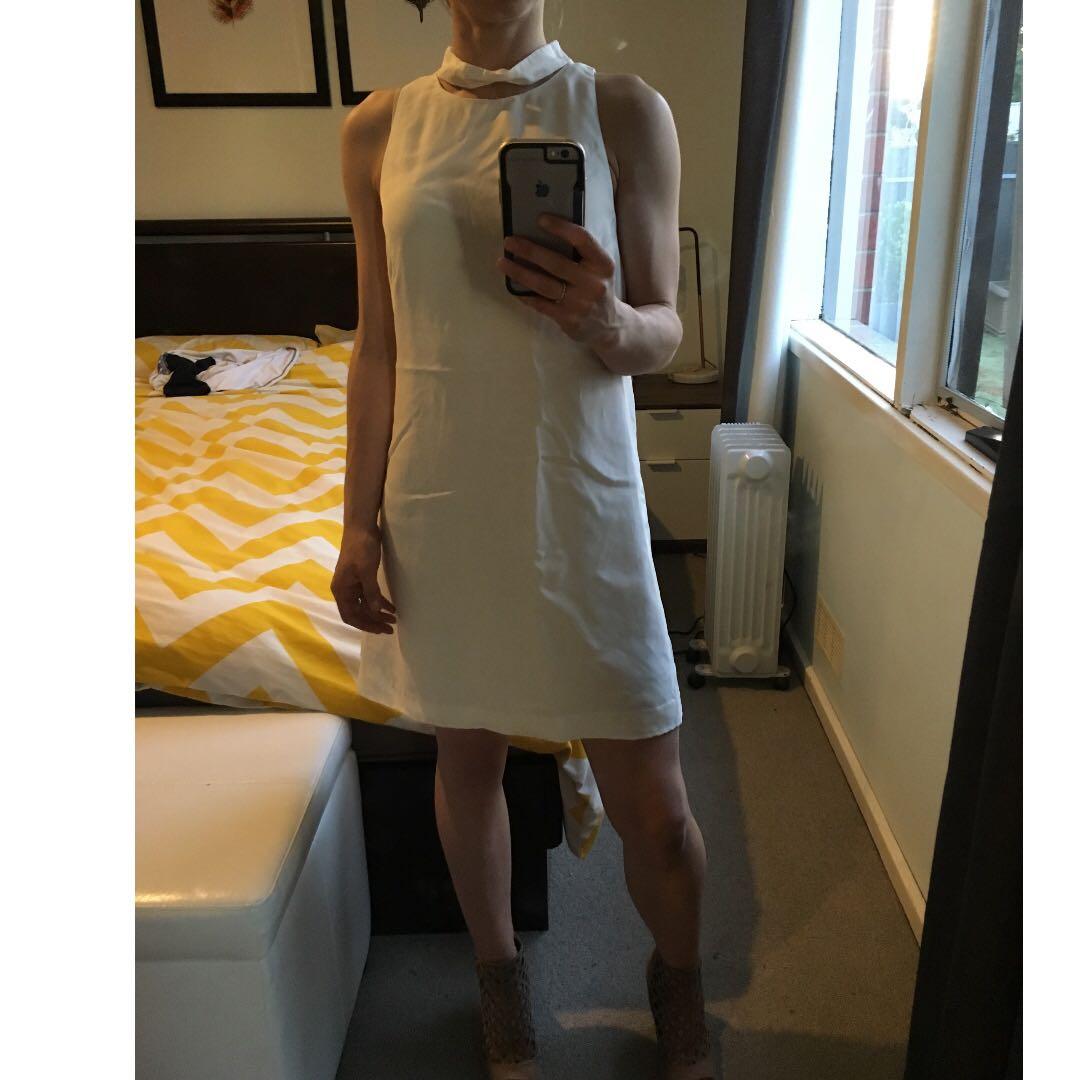 white TALULAH Dress size S