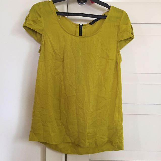 Zara mustard shirt