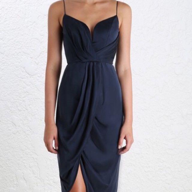 ZIMMERMAN- Silk Plunge Short Dress