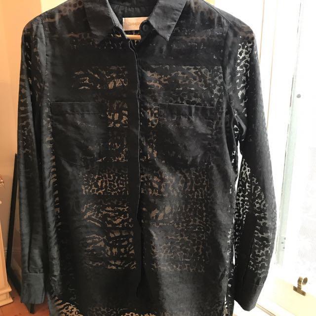 Zimmermann Black Shirt - Sz 0