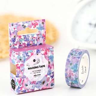 Watercolour Flower Washi Tape