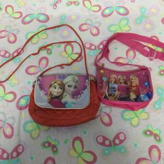 FROZEN AND BARBIE SLING BAG COMBO DEAL FREE POST