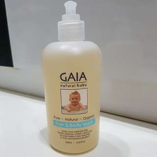 Gaia baby hair & body wash 500ml