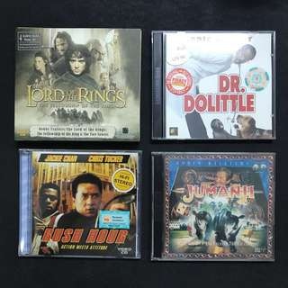 VCDs at $1 each! — The Lord Of The Rings; Dr. Dolittle; Rush Hour; Jumanji; Lilo & Stitch; Scooby-Doo