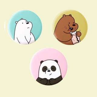 we bare bears button badge pins