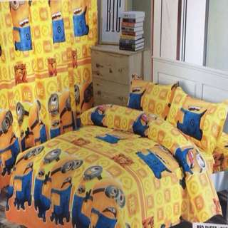 6 in 1 Minions Character Bedsheets Set