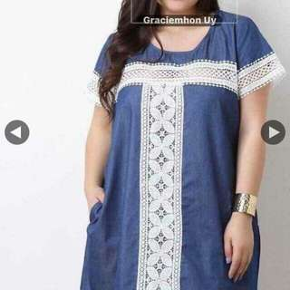Denim plussize dress