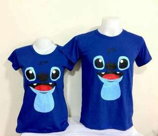 Stitch couple shirt