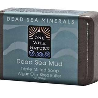 One With Nature Dead Sea Mud Soap Bar - New