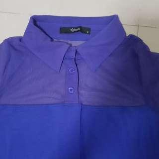 Cobalt blue collared dress Mphosis size S