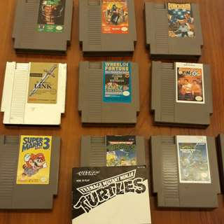 NES Games! Zelda Mario Castlevania and more!